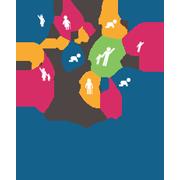 association francophone d'éducation et de promotion de la santé typo grise dessin enfants parents icone bébé